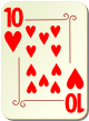 """Изображение игральной карты с орнаментом """"Heart 10"""" (Heart 10)"""