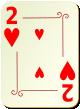 """Изображение игральной карты с орнаментом """"Heart 2"""" (Heart 2)"""