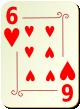 """Изображение игральной карты с орнаментом """"Heart 6"""" (Heart 6)"""