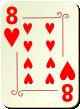 """Изображение игральной карты с орнаментом """"Heart 8"""" (Heart 8)"""