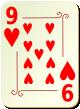 """Изображение игральной карты с орнаментом """"Heart 9"""" (Heart 9)"""