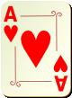 """Изображение игральной карты с орнаментом """"Heart Ace"""" (Heart Ace)"""