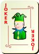 """Изображение игральной карты с орнаментом """"Joker Red"""" (Joker Red)"""