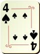 """Изображение игральной карты с орнаментом """"Spear 4"""" (Spear 4)"""