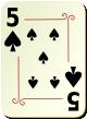"""Изображение игральной карты с орнаментом """"Spear 5"""" (Spear 5)"""