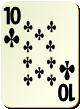 """Изображение игральной карты без специфики """"Cross 10"""" (Cross 10)"""