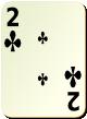 """Изображение игральной карты без специфики """"Cross 2"""" (Cross 2)"""