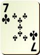 """Изображение игральной карты без специфики """"Cross 7"""" (Cross 7)"""