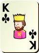 """Изображение игральной карты без специфики """"Cross King"""" (Cross King)"""