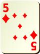 """Изображение игральной карты без специфики """"Diamond 5"""" (Diamond 5)"""