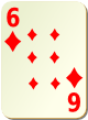 """Изображение игральной карты без специфики """"Diamond 6"""" (Diamond 6)"""