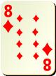 """Изображение игральной карты без специфики """"Diamond 8"""" (Diamond 8)"""