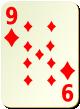 """Изображение игральной карты без специфики """"Diamond 9"""" (Diamond 9)"""