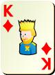 """Изображение игральной карты без специфики """"Diamond King"""" (Diamond King)"""