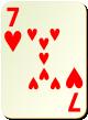 """Изображение игральной карты без специфики """"Heart 7"""" (Heart 7)"""