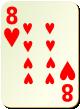 """Изображение игральной карты без специфики """"Heart 8"""" (Heart 8)"""