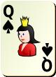 """Изображение игральной карты без специфики """"Spear Queen"""" (Spear Queen)"""