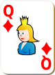 """Изображение игральной карты с белым фоном """"Diamond Queen"""" (Diamond Queen)"""