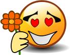 """Смайл """"С Цветком"""" (Holding Flower)"""